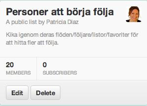 Twitter lista
