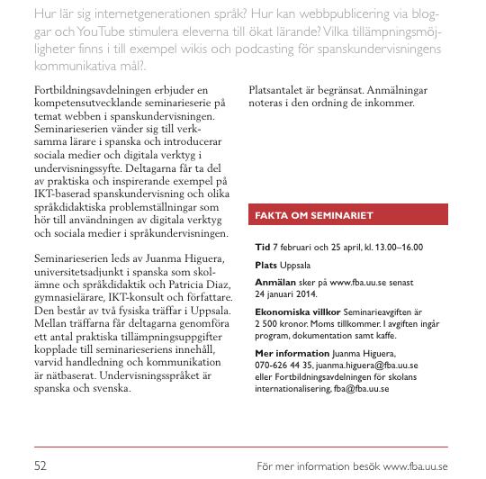 Fortbildning Uppsala Universitet 2